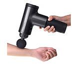 Аккумуляторный портативный ручной массажер для тела Fascial Gun HF-280 Black, фото 3