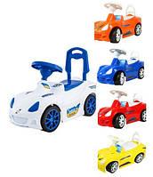 KM160 Машинка для катання СПОРТ КАР (помаранчева, червона, лимонна, синя)