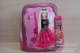 555-498 Рюкзак школьный каркасный Барби для девочки 35х20x40см, фото 2