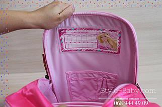 555-498 Рюкзак школьный каркасный Барби для девочки 35х20x40см, фото 3