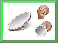 Зеркало сенсорное круглое 10 см на аккумуляторе Compact ST3031 Simplehuman с дорожным чехлом (увеличение 1х3)