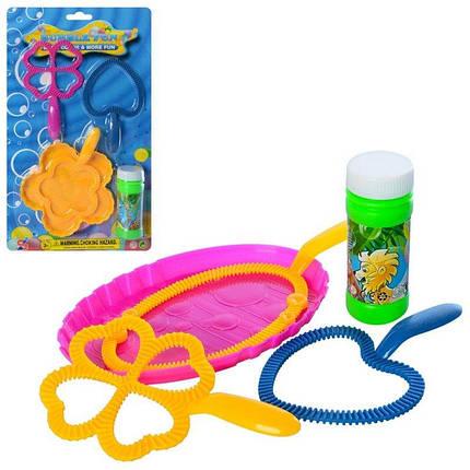 004-10-11 Детские Мыльные пузыри мыльная игра, запаска, лоток, 2вида, на листе, 19-32-4см, фото 2