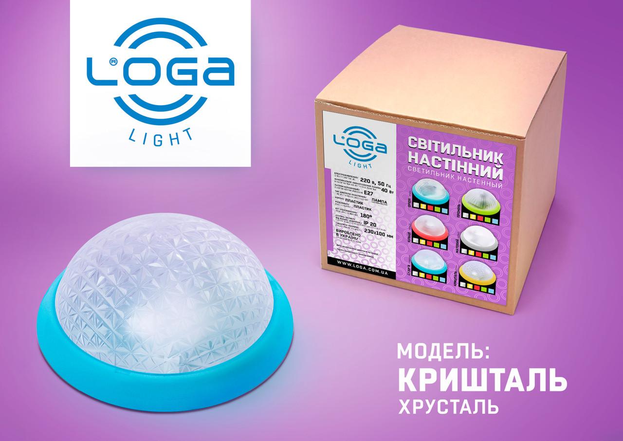 """Світильник настінний """"Кришталь"""" синій.Україна.(ТМ LOGA ® Light)"""