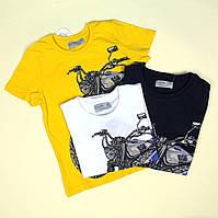 7294 Детская футболка для мальчику Мотоцикл тм Glo-Story размер 110,160
