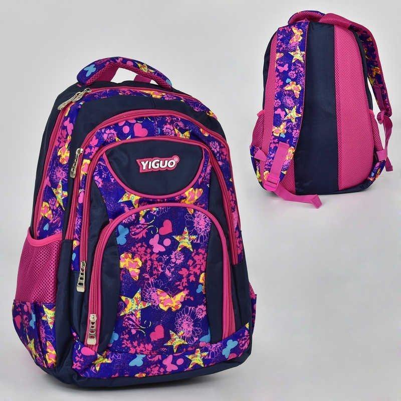 00235 Рюкзак вместительный школьный на девочку