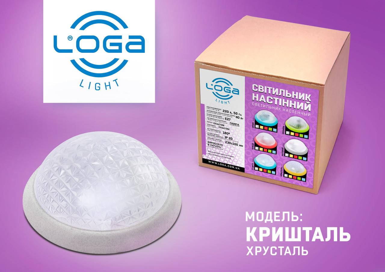 """Світильник настінний """"Кришталь"""" срібло.Україна.(ТМ LOGA ® Light)"""