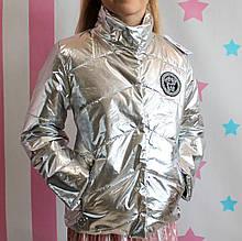 26570сер Демисезонная Куртка Версаче Серебро производитель Украина размер 152 см