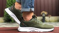 Чоловічі літні кросівки Asics S600 текстильні сітка зелені для бігу в стилі Асикс