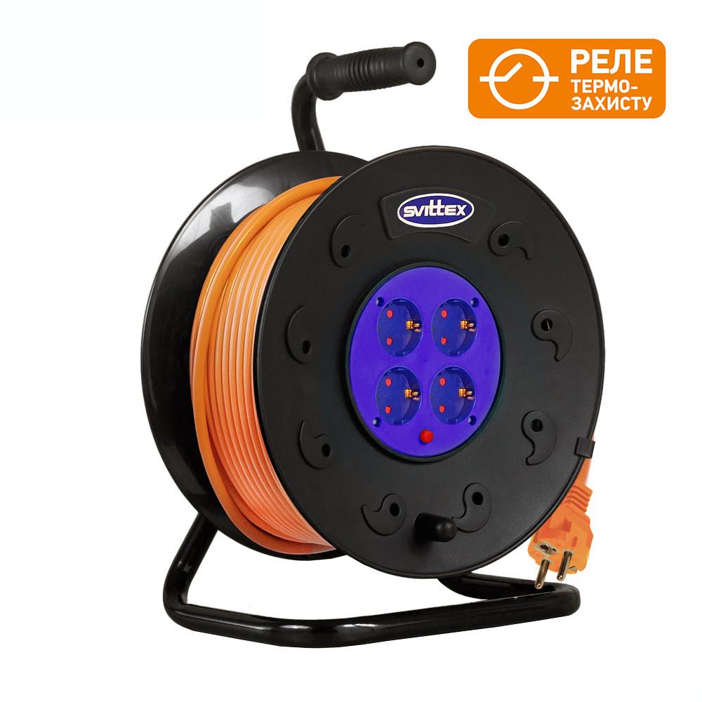 Удлинитель SVITTEX на катушке 40м  с сечением провода 3х2,5 мм² и термозащитой!