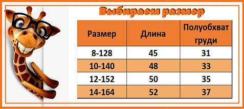 6680 Кофта школьная  Матильда с коротким рукавом Турция размер 164 см, фото 2