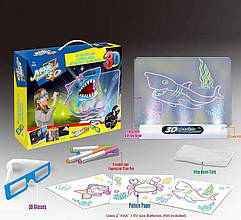 381/382/383 Проекционная 3D доска 3 вида, свет, в коробке