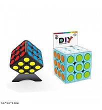 379009 Кубик логика 379009-A (168шт/2) 3*3 DIY 2 цвета, с подставкой, в коробке 5,6*5,6*5,6 см