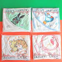 370 Детское полотенце плед для новорожденного с уголком