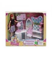 7736-A Кукла 29см, салон красоты, мебель, аксессуары, в кор-ке, 42-33,5-11,5см