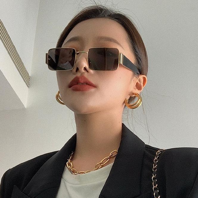 Солнцезащитные очки маска квадратные женские стеклянные широкие