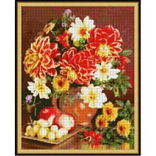 Вишивка бісером, Канва квіти натюрморт Натюрморт з жоржинами