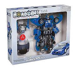 50070 Робот Трансформер и машина Toyota SUPRA 1:18 ROAD BOT в коробке, свет + музыка