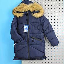 C-05 Куртка зимняя синяя для мальчика тм TAURUS размер 10,12 лет