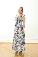 Платье  летнее, женское макси. Хлопок прошва. Индия.  (46-52) L р., фото 1