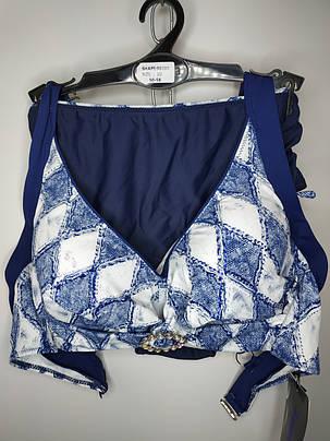Купальник на большую грудь синий Sisianna 98289 на 50 52 54 56 58 размер, фото 2