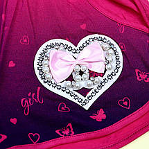 52345мал Шорты для девочки Сердце с бусинами тм Seagull размер 140,146,158 см, фото 2
