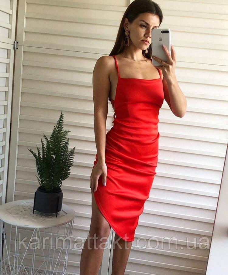 Платье на сборке