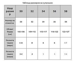 Купальник на большую грудь черный Sisianna 98289 на 50 52 54 56 58 размер, фото 3