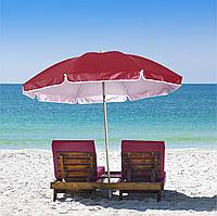 Пляжный зонт с наклоном 2 м Бордовый HMD Umbrella Anti-UV
