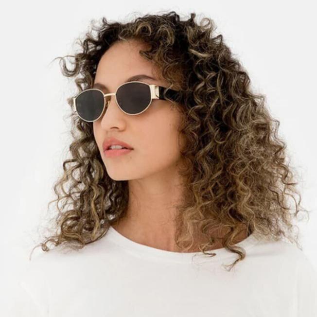 Солнцезащитные очки маска овальные женские стеклянные широкие