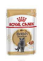 Влажный корм Royal Canin BRITISH SHORTHAIR ADULT для кошек породы британская короткошерстная 0,085КГ 12 шт