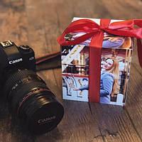 Фотокубик от производителя 14х14 см Оригинальный подарок к 14 февраля и 8 марта. Подарок фотокубик