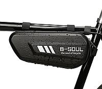Велосипедна сумка під раму карбон B-SOUL трикутна 27 х 11 х 7 см, фото 1