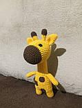 Вязаная игрушка ручной работы Жираф, фото 3