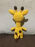 Вязаная игрушка ручной работы Жираф, фото 4