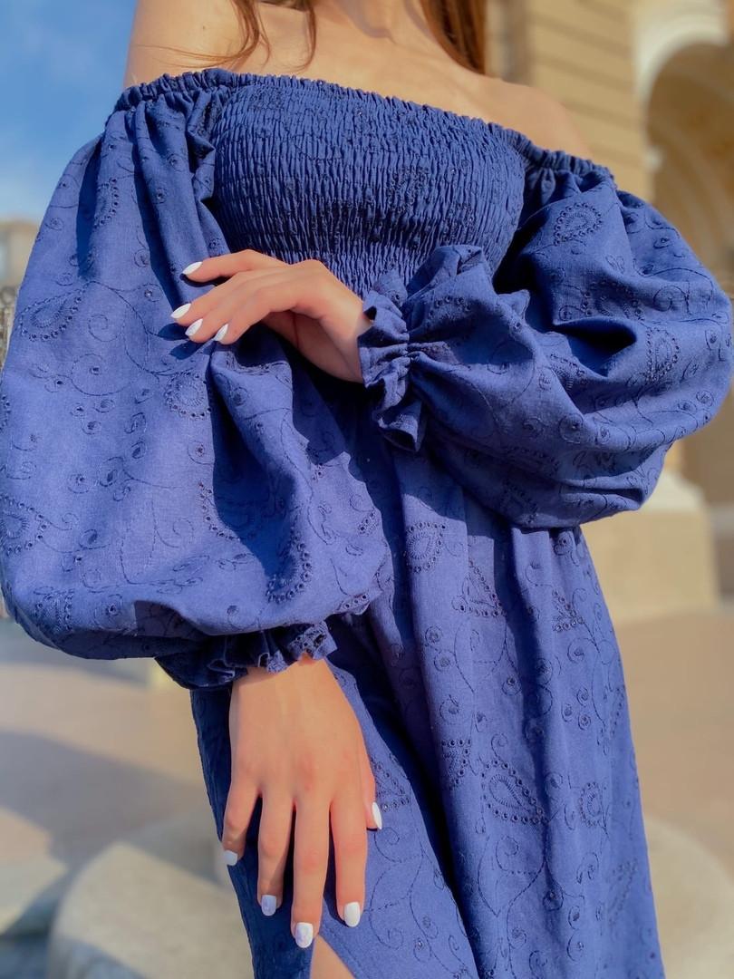 Платье Лен Вышивка  5311