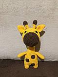 Вязаная игрушка ручной работы Жираф, фото 2