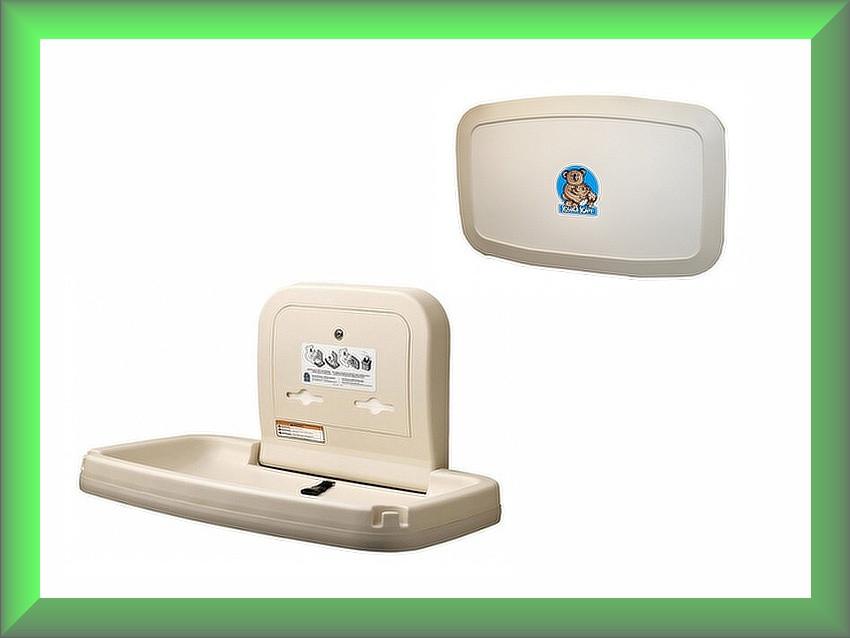 Пеленальний столик настінний відкидний горизонтальний KB200-00-INB Bobrick