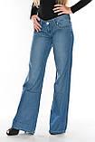 Женские джинсы клеш от бедра OM 9908-1038 синие, фото 6