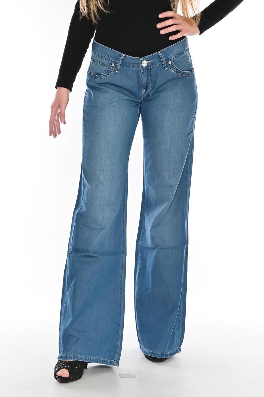 Женские джинсы клеш от бедра OM 9908-1038 синие