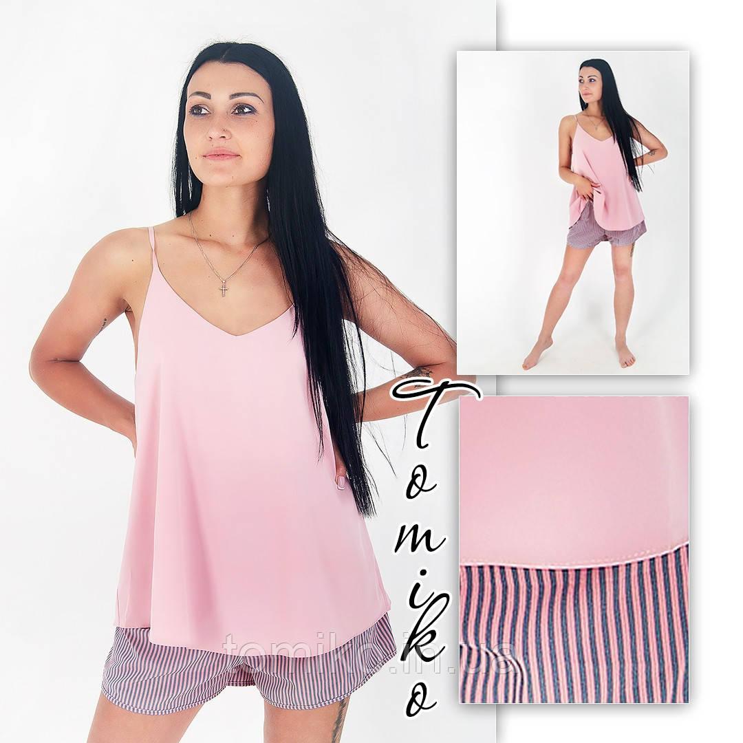 Женская пижамка шелковая