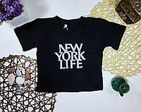 Топ футболка НЬЮ ЙОРК для девочки Черная