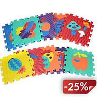 Детский коврик-мозаика Метр+ 10 шт Овощи и Фрукты (ncd.M2622)
