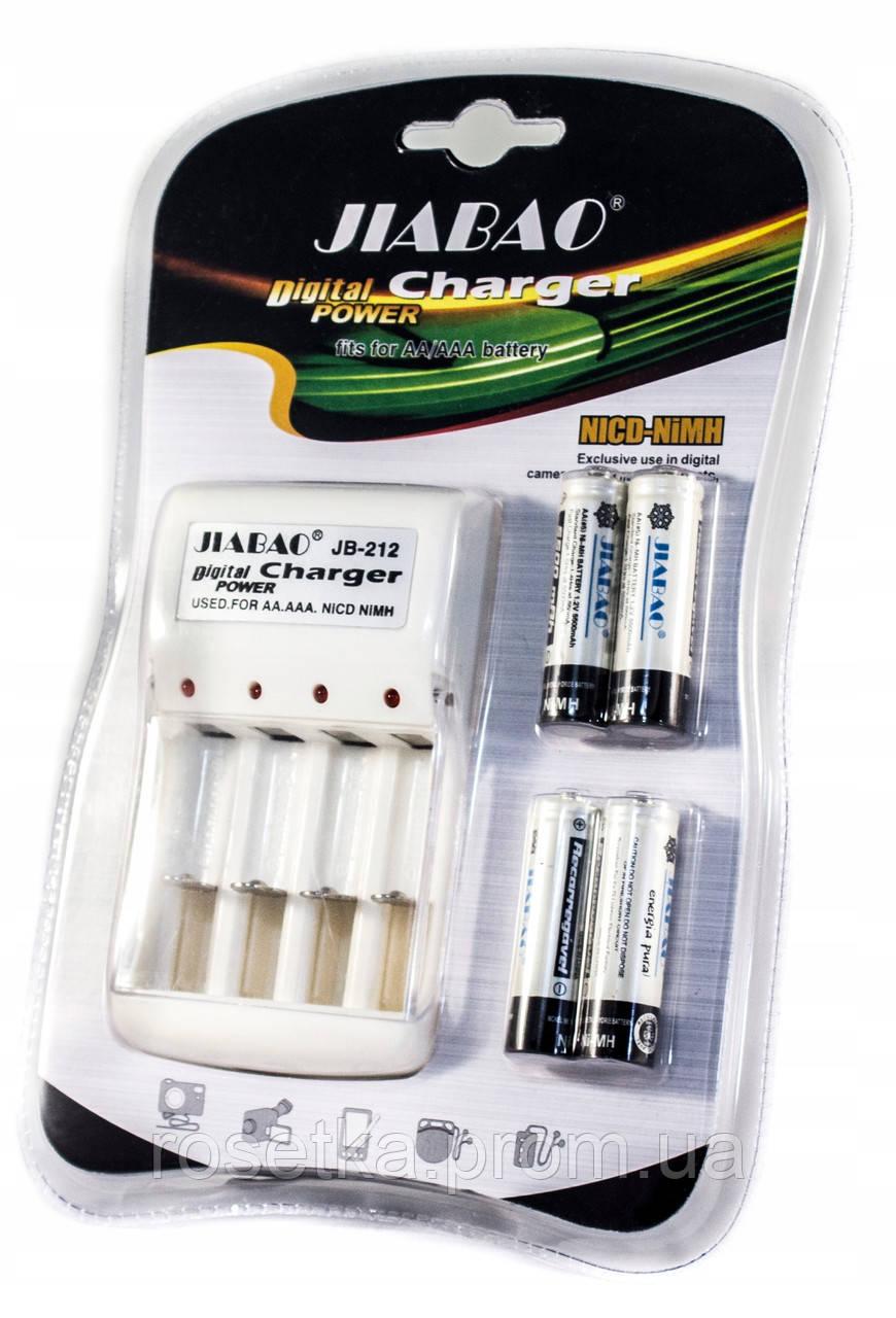 Зарядний пристрій для акумуляторних батарейок - Jiabao Digital Power Charger JB-212, акумуляторні батарейки