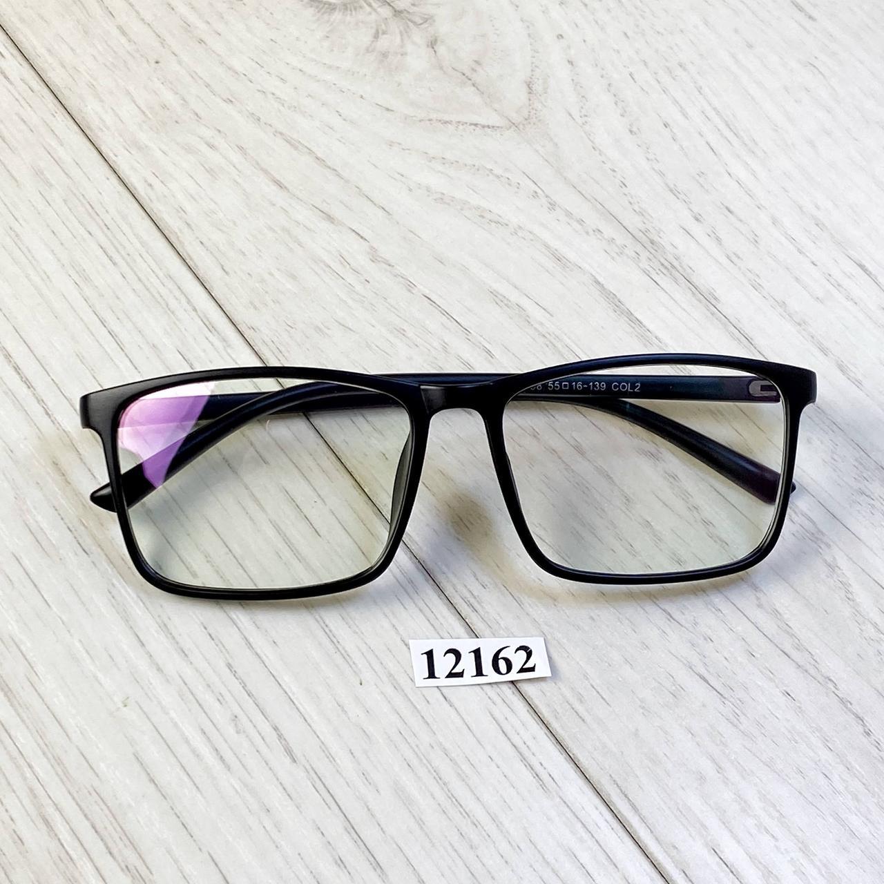 Имиджевые очки в черной матовой оправе (антиблик)