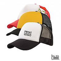 Печать на кепке с сеткой