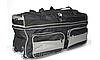 Сумка дорожная на колёсах KAIMAN 60 см черная с серым, фото 2