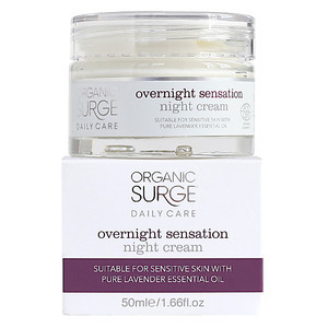Крем для лица увлажняющий ночной для всех типов кожи, 50 мл Organic Surge