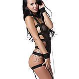 Женское эротическое платье с наручниками и цепями S Чёрный ( 120 004 ), фото 5