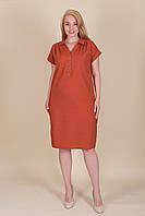 Жіноче плаття ЛЬОН жіноча літнє великий розмір. Опт і роздріб. Розмір 52, 54, 56, 58, фото 1