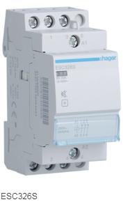 Контактор бесшумный модульный ESC326S Hager 25А 230V 3 NC